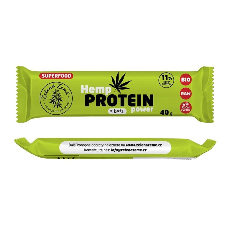 Konopná proteínová tyčinka